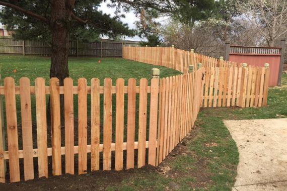 custom wooden fencing house