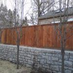 wood fence tall privacy