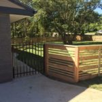 wood ornamental fence gate