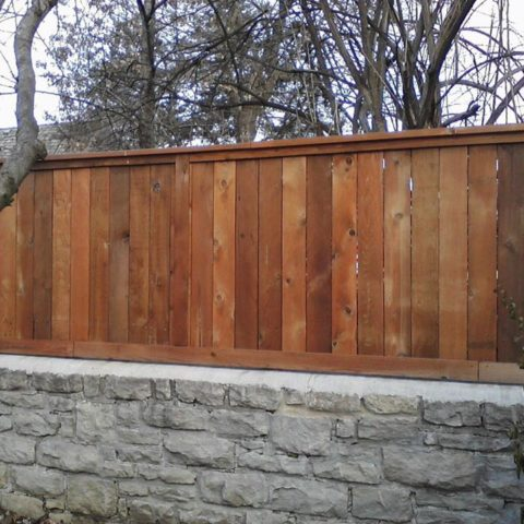 tall wood fence 6